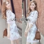 Lady Serena Smart Feminine Embroidered Cotton Dress L272-9914 thumbnail 4