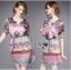 Lady Florence Hippie Chic Printed Satin Dress L191-75C07 thumbnail 5