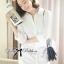 Lady Emily Basic Striped Shirt Dress in White thumbnail 2