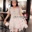 Lady Monique Sweet Feminine Flower Guipure Lace Dress thumbnail 1