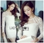 Lady Nana Sweet Classic Body Con Lace and Tulle Dress in White L218-79C03 thumbnail 2