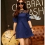 Dress denim lace shirt short race by Aris Code A222-75C02 thumbnail 4