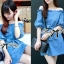 DR-LR-231 Lady Adele Off-shoulder Denim Ribbon Dress thumbnail 1