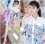 DR-LR-242 Lady Lara Summer Floral Print Shirt Dress thumbnail 4