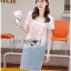 Lady Tamara Street Chic Sequin Embroidered Jersey and Denim Dress L274-7516 thumbnail 7