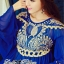 DR-LR-151 Lady Jacqueline Embroidered Chiffon Pleated Dress in Electric Blue thumbnail 3