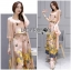 Lady Lydia Casual Feminine Butterfly Printed Set with Chiffon Maxi Outerwear L264-8501 thumbnail 13