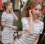 DR-LR-122 Lady Cherline Smart Casual Striped Lace Dress thumbnail 2