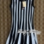 DR-LR-206 Lady Carissa Sleeveless Striped Knit Dress in Black and White thumbnail 12