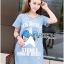 Lady Julie Sporty Style Printed and Sequin Denim Dress L254-75C01 thumbnail 12