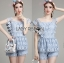 Lady Sophie Sweet Casual Baby Blue Lace Top and Shirts Set L251-89C02 thumbnail 9