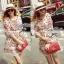 Lady Merry Blooming Print Glittery Mini dress L217-89E01 thumbnail 1