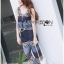Lady Cassandra Casual Chic Striped Lace Tank Top and Pants Set L266-7911 thumbnail 2