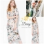 Daisy v-neck cream flower dress thumbnail 7