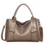 กระเป๋าถือสะพายไหล่ ใบใหญ่ สีทองแชมเปญ รุ่น BB0157GO