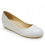 รองเท้าส้นแบนไซส์ใหญ่ 44-46 EU สีขาว รุ่น CH0129