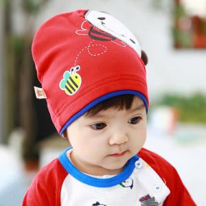 HT442••หมวกเด็ก•• / หมวกบีนนี่-ผีเสื้อ (สีแดง)
