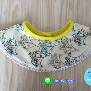 ผ้าซับน้ำลายเด็ก ผ้ากันเปื้อนเด็กเล็ก แบบ 360 องศา / ลายดอกไม้ดอกเล็ก