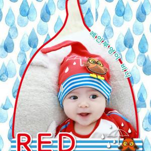 HT195••หมวกเด็ก•• / [สีแดง] นกฮูก