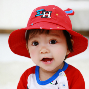 HT482••หมวกเด็ก•• / หมวกปีกกว้าง-DH (สีแดง)