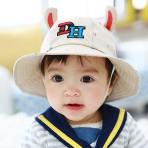 HT483••หมวกเด็ก•• / หมวกปีกกว้าง-DH (สีเบจ)