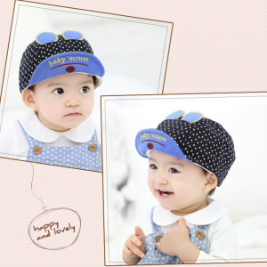 HT335••หมวกเด็ก•• / หมวกแก็ป baby mouse (สีดำ)