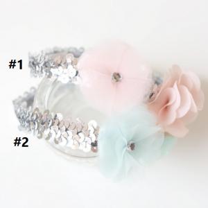 HB070••ที่คาดผมเด็ก•• ดอกไม้ (มี 2 สี)