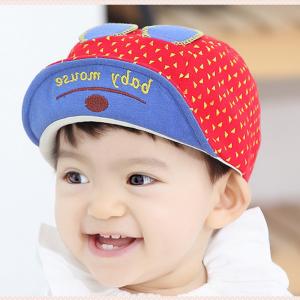 HT334••หมวกเด็ก•• / หมวกแก็ป baby mouse (สีแดง)