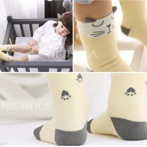 SK044••ถุงเท้าเด็ก•• จิ้งจอกสีเหลือง มี 2 ไซส์