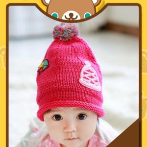 HT260••หมวกเด็ก•• / Star [สีชมพู]