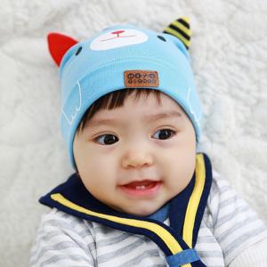 HT423••หมวกเด็ก•• / หมวกบีนนี่-หมียิ้ม (สีฟ้าอ่อน)
