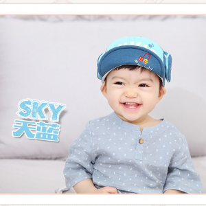 HT327••หมวกเด็ก•• / หมวกแก็ป Music (สีฟ้า)