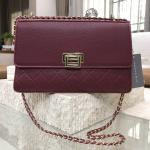 CHARLES & KEITH QUILTED CHAIN SHOULDER BAG แดงเบอร์กันดี้