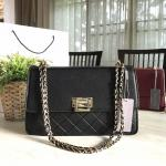 CHARLE & KEITH QUILTED CHAIN SHOULDER BAG สีดำ
