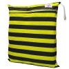 ถุงผ้ากันน้ำ 2 ช่อง Size: L (หูยางยืด) i7 -ลายทางเหลือง/ดำ