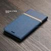 เคส Zenfone 4 Selfie (ZD553KL) เคสฝาพับหนัง PVC มีช่องใส่บัตร สีน้ำเงิน