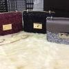CHARLES & KEITH MINI SQUARE SHAPED SHOULDER BAG มี 3 สี กระเป๋าสะพายไหล่สายโซ่ ประดับกากเพชร