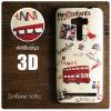 (FREE ฟิล์มกันรอย) เคส ZenFone Selfie (KD551KL) เคสนิ่ม สกรีนลาย 3D คุณภาพ พรีเมียม ลาย H