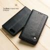 เคส Zenfone 4 Max Pro (ZC554KL) เคสฝาพับเกรดพรีเมี่ยม ลายหนัง พร้อมช่องใส่บัตรด้านใน (พับเป็นขาตั้งได้) สีดำ