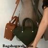 Genuine Leather Inspired balenciaga triangle bag : Small 24 cm