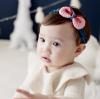 HB072••ที่คาดผมเด็ก•• โบว์ถัก (สีชมพู)