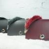 Charles & keith FURRY CHAIN-STRAP SHOULDER BAG พร้อมส่ง สีดำ/เทา/แดง