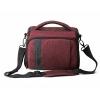 กระเป๋าใส่กล้องถ่ายรูป SLR/DSLR ขนาดกะทัดรัด พร้อมผ้าคลุมกันฝนหรือสิ่งสกปรก (สี Heather Red) (BAGSMART Compact Camera Shoulder Bag for SLR/DSLR with Waterproof Rain Cover)