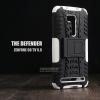 """เคส Zenfone GO 5.5"""" (ZB551KL DTAC Edition เท่านั้น) เคสบั๊มเปอร์ Defender กันกระแทก มีขาตั้งในตัว สีขาว"""