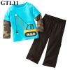 (GTL11) เซ็ทเสื้อแขนยาว+กางเกงขายาว ไซส์ 2T (ผ้าดีมาก หนา นิ่ม สำหรับเด็ก 2-3ขวบ)