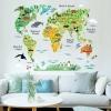 สติกเกอร์แต่งห้อง DIY รูปแผนที่โลก (รุ่นใหม่) ลอกออกแล้วติดซ้ำได้