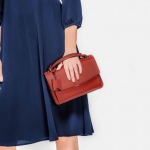 CHARLES AND KEITH PUSH-LOCK SATCHEL