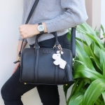 KEEP leather Pillow bag ใบสีดำ