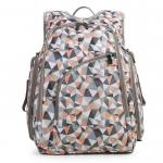 Ecosusi กระเป๋าเป้คุณแม่ ใส่สัมภาระสำหรับคุณแม่ มาพร้อมแผ่นรองเปลี่ยนผ้าอ้อม, สายคล้องรถเข็น, ช่องเก็บความร้อน-เย็น ทั้งสองด้าน (Light Orange)