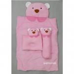 ที่นอนเด็กอ่อน รูปสัตว์ ซักได้ 95x55x6cm. G4 -Pink